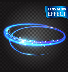 realistic light effects glare light rays vector image
