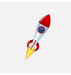 Rocket and spacecraft color vector
