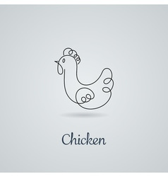 Rooster cock chicken vector