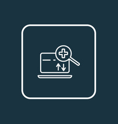 Search engine icon line symbol premium quality vector
