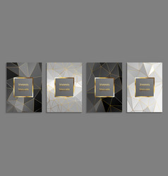 set of luxury cover templates cover design vector image
