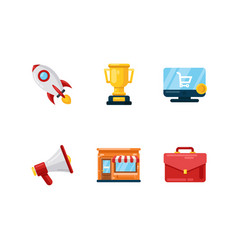 set stratup icons vector image