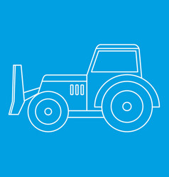 skid steer loader icon outline vector image