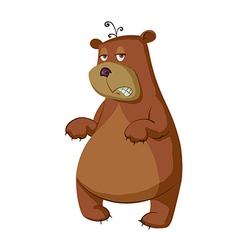 Sleepy bear cartoon vector