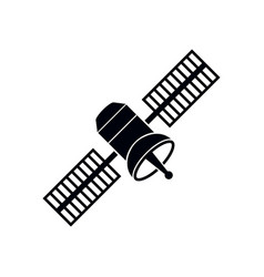 space satellite icon design template isolated vector image