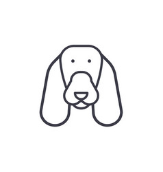 spaniel line icon sign on vector image