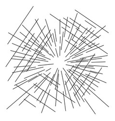 speed lines from center with perspective view vector image