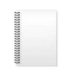 spiral rings notebook copybook white mockup vector image