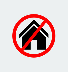 stop house building icon vector image