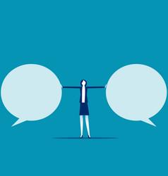 Stop speech bubble business communication flat vector