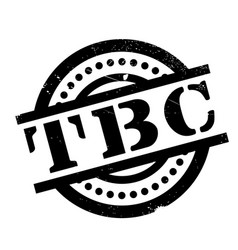 tbc rubber stamp vector image vector image