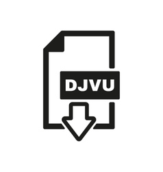 The DJVU icon File format symbol Flat vector image