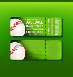 ticket on premier league of baseball game vector image