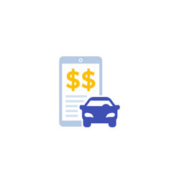 transportation costs icon with smart phone vector image