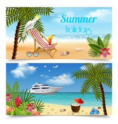 tropics horizontal banners set vector image