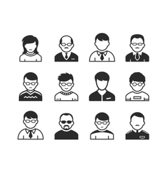 Users avatar icons vector image