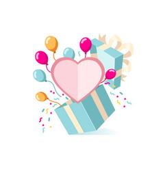 valentines present card vector image