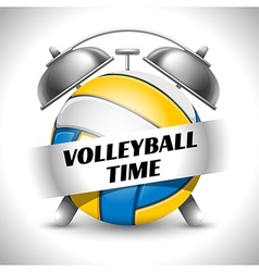 Volleyball time concept vector