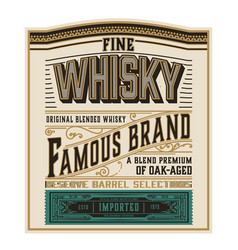 whiskey label for packing layered vector image