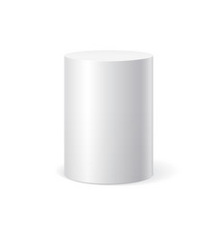 White cylinder on white background vector