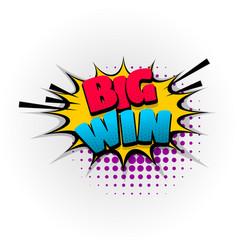 win winner game comic book text pop art vector image