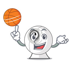 with basketball webcam in the shape of mascot vector image
