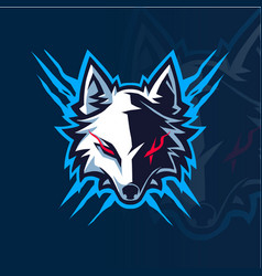 Wolf head esport mascot logo vector