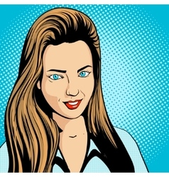 Young woman pop art retro vector
