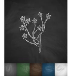 Yulan magnolia icon Hand drawn vector image vector image