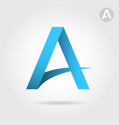 a letter sign roof and road concept vector image vector image