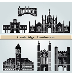 Cambridge landmarks and monuments vector image vector image