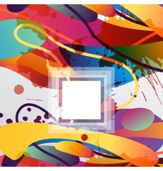 Colorful decorative background with free shapes vector