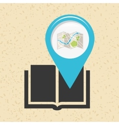location of place on the map design vector image vector image