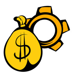Money bag icon icon cartoon vector