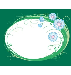 cornflowers the vignette vector image vector image