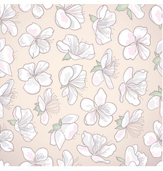 decorative hand-drawn curly seamless floral vector image vector image