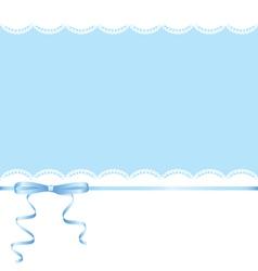lace and ribbon bow vector image