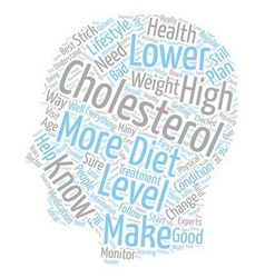 ways to lower your cholesterol text background vector image