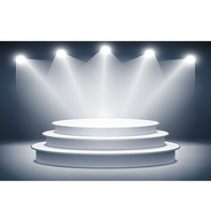 Illuminated stage podium for award ceremony vector image vector image