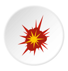 nucleate explosion icon circle vector image vector image