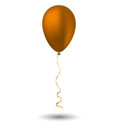 orange balloon on white background vector image vector image