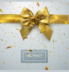 golden bow and ribbons vector image vector image