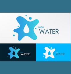 Logo water liquid vector