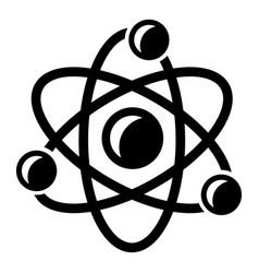molecule genetics icon simple black style vector image vector image
