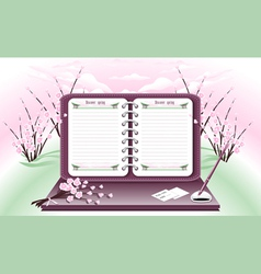 Spring Notebook vector image vector image