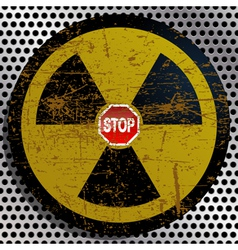 Stop Radiation vector image vector image