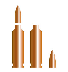 a flying bullet with a fiery trace isolated on a vector image