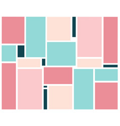 abstract background with set of colored rectangles vector image