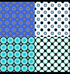 abstractal circle pattern design background set vector image