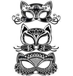 animal face masks vector image